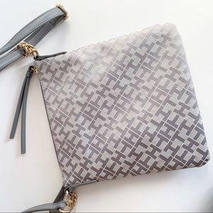 Tommy Hilfiger Bags - Tommy Hilfiger Canvas Silver Grey Crossbody Bag